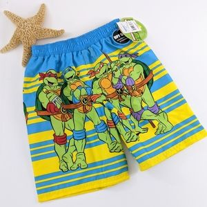 NWT Teenage Mutant Ninja Turtles Swim Trunks. 3T